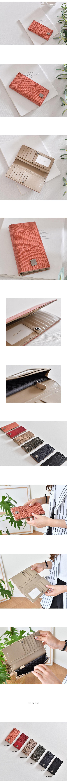 소가죽 리쟈드 슬림 장지갑 - 릴리, 61,700원, 여성지갑, 장/중지갑