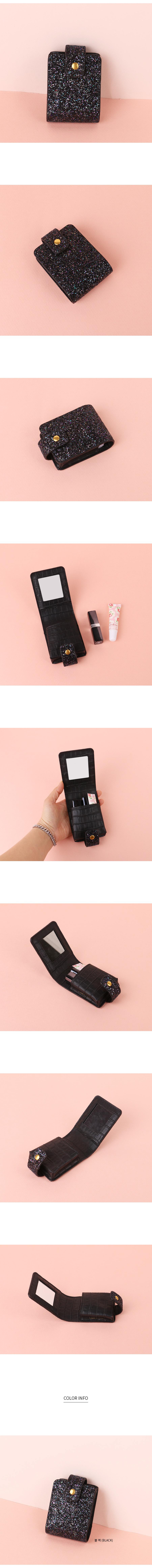 글루터 미니 립스틱 거울파우치 - 릴리, 38,400원, 다용도파우치, 지퍼형