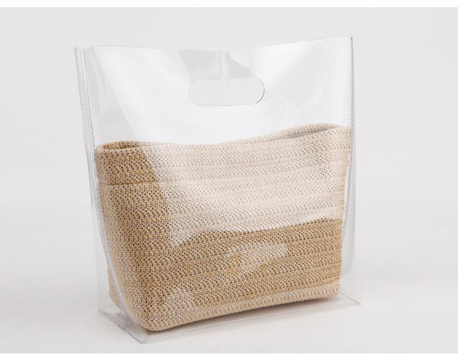 라탄 파우치 이너백 투명백 비치백 - 릴리, 44,400원, 계절백, 비치백