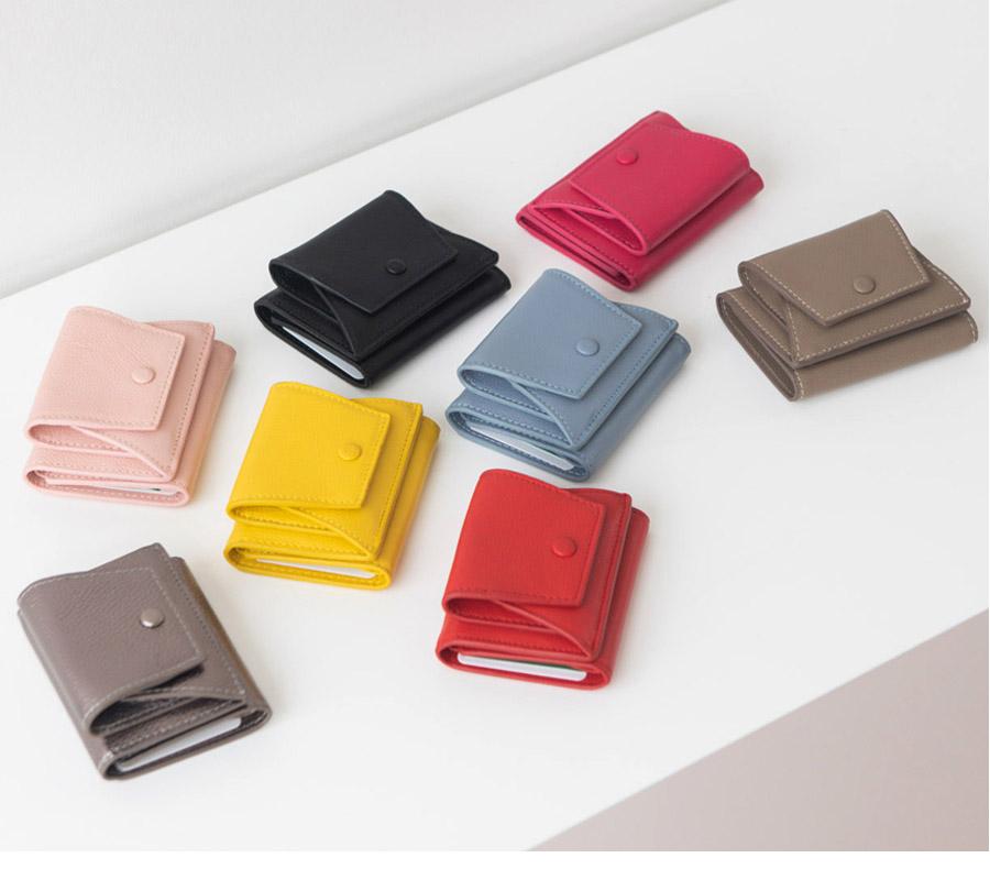 소가죽 코인 포켓 반지갑 - 릴리, 49,700원, 여성지갑, 반지갑