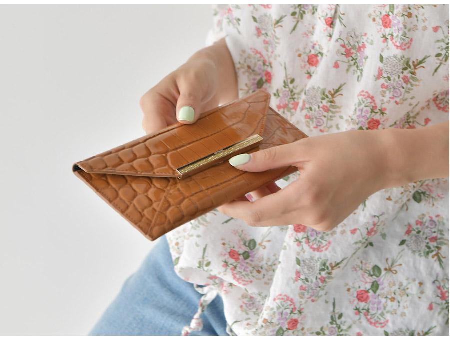 소가죽 와니 카드 장지갑 - 릴리, 68,700원, 여성지갑, 장/중지갑