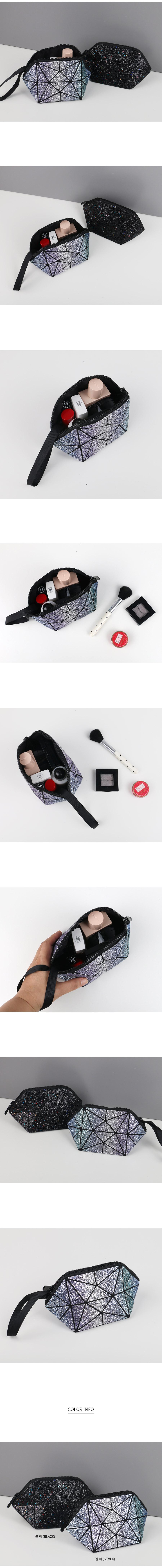블링 펄 믹스 화장품파우치 - 릴리, 12,200원, 메이크업 파우치, 지퍼형
